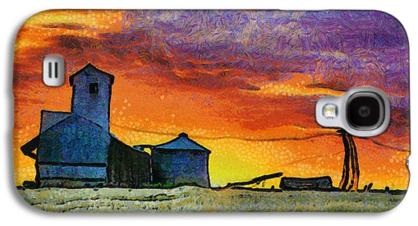Silos Galaxy S4 Cases - After Harvest - Digital Painting Galaxy S4 Case by Mark Kiver