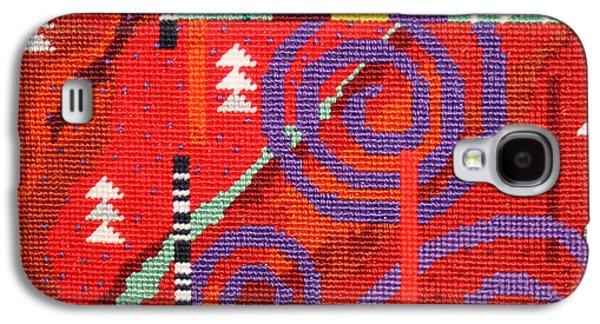 Contemporary Abstract Tapestries - Textiles Galaxy S4 Cases - After Klimt Galaxy S4 Case by Connie Pickering Stover