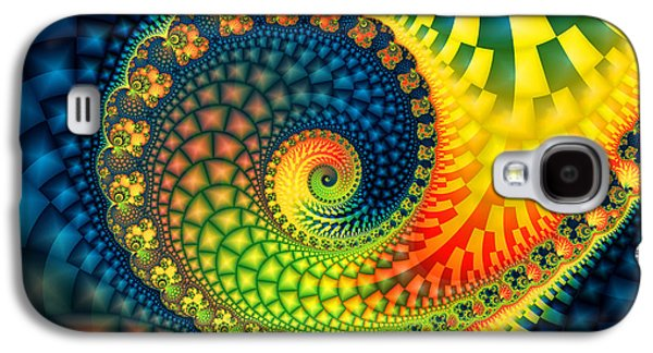 Fractal Art Galaxy S4 Cases - After The Rain-Fractal Art Galaxy S4 Case by Karin Kuhlmann