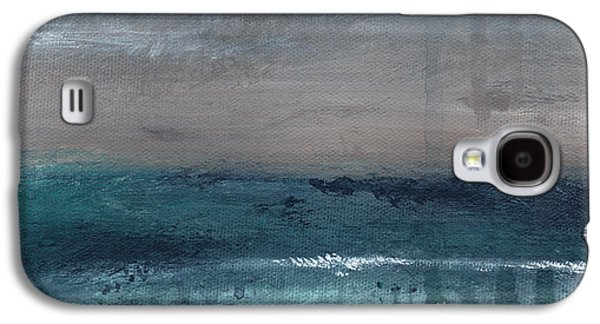 After The Storm- Abstract Beach Landscape Galaxy S4 Case by Linda Woods