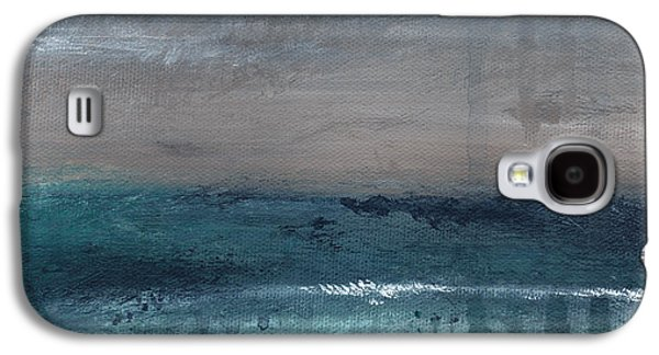 Abstracts Galaxy S4 Cases - After The Storm- Abstract Beach Landscape Galaxy S4 Case by Linda Woods