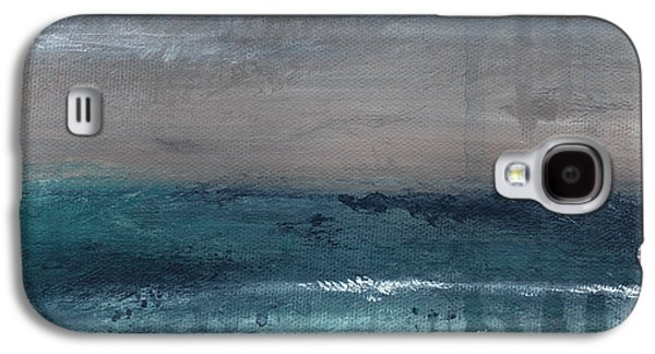 Blue Abstract Galaxy S4 Cases - After The Storm- Abstract Beach Landscape Galaxy S4 Case by Linda Woods