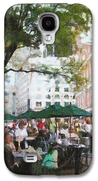 Dine Galaxy S4 Cases - Afternoon at Faneuil Hall Galaxy S4 Case by Jeff Kolker