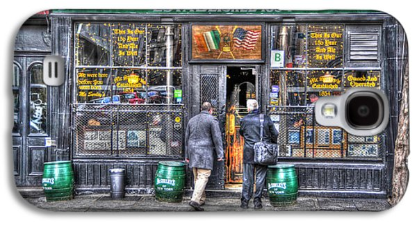 East Village Galaxy S4 Cases - Afternoon at McSorleys Galaxy S4 Case by Randy Aveille