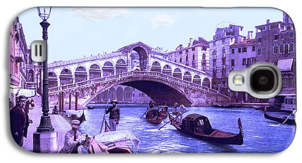 Coasting Galaxy S4 Cases - Afternoon At the Rialto Bridge Venice Italy Galaxy S4 Case by L Brown