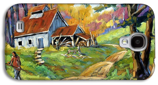 Canadiens Paintings Galaxy S4 Cases - Afternoon chores by Prankearts Galaxy S4 Case by Richard T Pranke