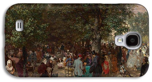 Afternoon In The Tuileries Gardens Galaxy S4 Case by Adolph Friedrich Erdmann von Menzel