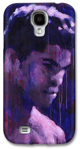 Drips Paintings Galaxy S4 Cases - Afternoon Marcus Galaxy S4 Case by Douglas Simonson