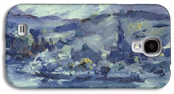 Swiss Paintings Galaxy S4 Cases - Afternoon on Lake Lucerne Galaxy S4 Case by Lovis Corinth