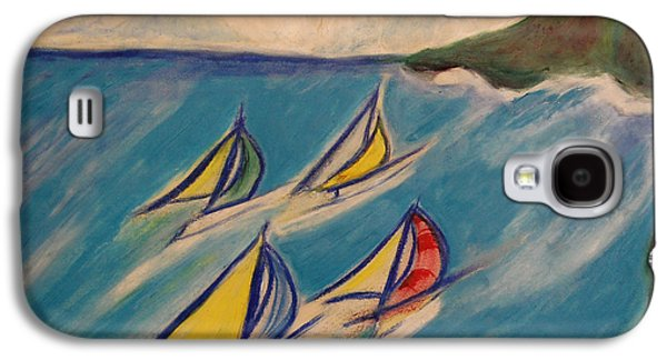 Waterscape Pastels Galaxy S4 Cases - Afternoon Regatta by jrr Galaxy S4 Case by First Star Art