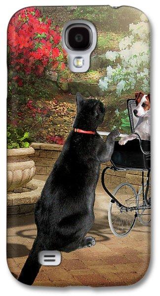 Garden Scene Galaxy S4 Cases - Afternoon stroll Galaxy S4 Case by Gina Femrite