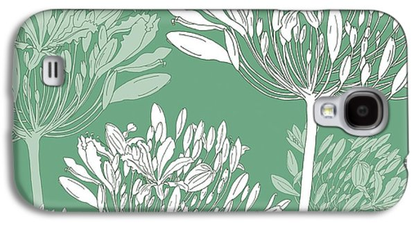 Agapanthus Breeze Galaxy S4 Case by Sarah Hough