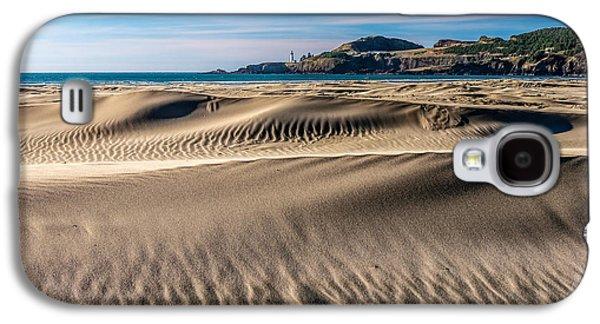 Agate Beach Oregon Galaxy S4 Cases - Agate Beach Dunes and Yaquina Head Light Galaxy S4 Case by Greg Stene
