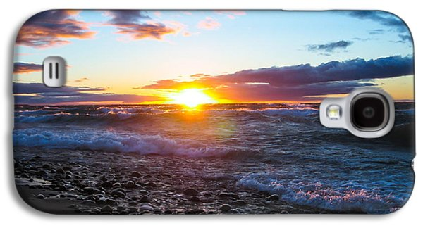Agate Beach Galaxy S4 Cases - Agate Beach Sunset Galaxy S4 Case by Lee and Michael Beek