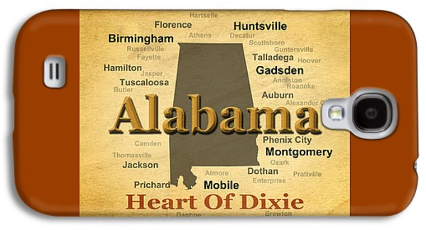 Enterprise Galaxy S4 Cases - Aged Alabama State Pride Map Silhouette  Galaxy S4 Case by Keith Webber Jr
