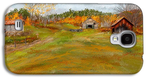 Autumn Scene Galaxy S4 Cases - Aged With Character-Farm Life Galaxy S4 Case by Lourry Legarde
