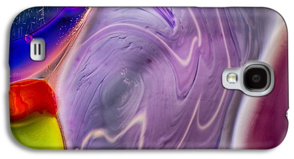 Blue Abstracts Glass Galaxy S4 Cases - Ageing Galaxy S4 Case by Omaste Witkowski