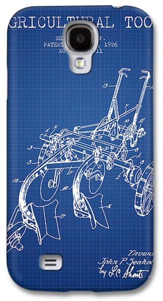 Plow Galaxy S4 Cases - Agricultural Tool patent from 1926 - Blueprint Galaxy S4 Case by Aged Pixel