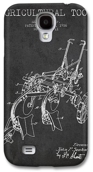 Plow Galaxy S4 Cases - Agricultural Tool patent from 1926 - Dark Galaxy S4 Case by Aged Pixel