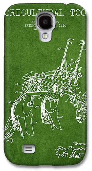 Plow Galaxy S4 Cases - Agricultural Tool patent from 1926 - Green Galaxy S4 Case by Aged Pixel