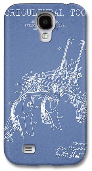 Plow Galaxy S4 Cases - Agricultural Tool patent from 1926 - Light Blue Galaxy S4 Case by Aged Pixel
