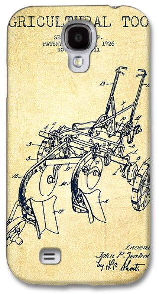 Plow Galaxy S4 Cases - Agricultural Tool patent from 1926 - Vintage Galaxy S4 Case by Aged Pixel