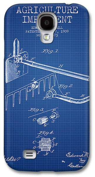 Plow Galaxy S4 Cases - Agriculture Implement patent from 1909 - Blueprint Galaxy S4 Case by Aged Pixel