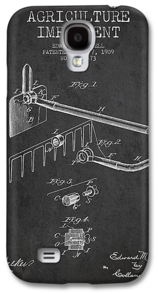 Plow Galaxy S4 Cases - Agriculture Implement patent from 1909 - Dark Galaxy S4 Case by Aged Pixel
