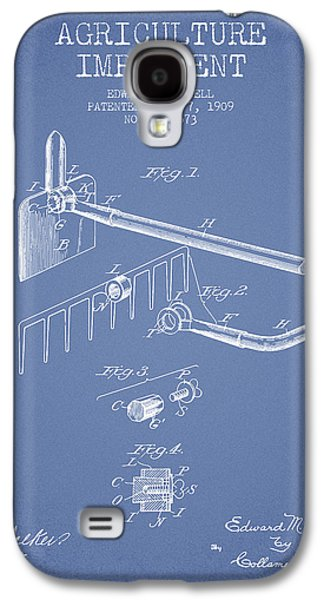 Plow Galaxy S4 Cases - Agriculture Implement patent from 1909 - Light Blue Galaxy S4 Case by Aged Pixel