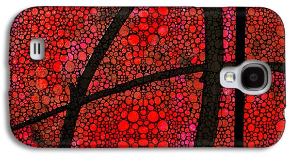 Red Abstract Digital Galaxy S4 Cases - AH - Red Stone Rockd Art by Sharon Cummings Galaxy S4 Case by Sharon Cummings