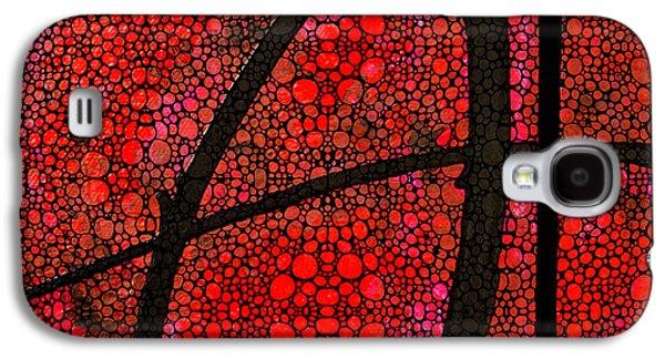 Stone Digital Galaxy S4 Cases - AH - Red Stone Rockd Art by Sharon Cummings Galaxy S4 Case by Sharon Cummings