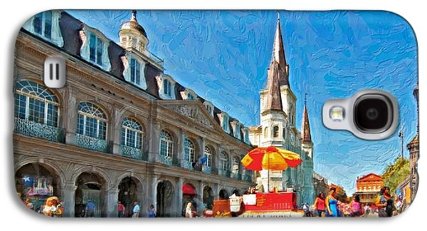 Lucky Dogs Galaxy S4 Cases - Ahh...New Orleans impasto Galaxy S4 Case by Steve Harrington