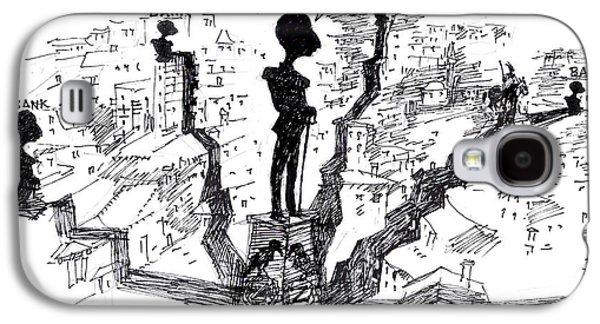 Caricatures Galaxy S4 Cases - Ahmet Zogu Hijet Mbreterore ne Tirane  Galaxy S4 Case by Ylli Haruni