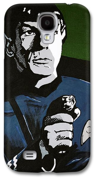 Enterprise Galaxy S4 Cases - Aiming his Phaser Galaxy S4 Case by Judith Groeger