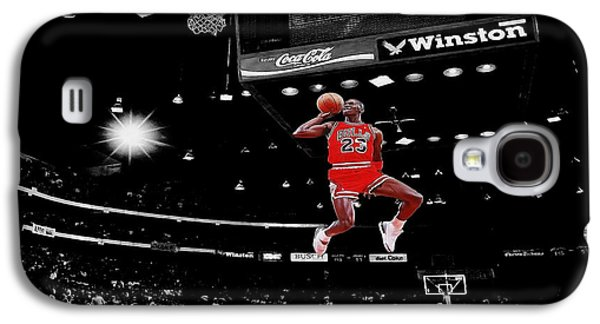 Celebrities Digital Art Galaxy S4 Cases - Air Jordan Galaxy S4 Case by Brian Reaves
