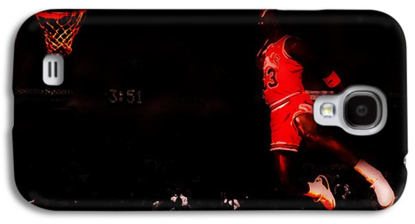 Dunk Paintings Galaxy S4 Cases - Air Jordan Crusing Altitude Galaxy S4 Case by Brian Reaves