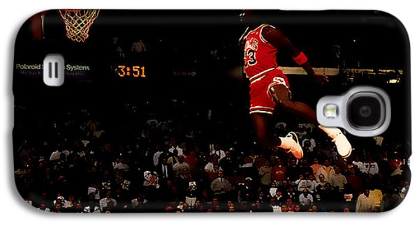 Patrick Ewing Galaxy S4 Cases - Air Jordan in Flight Galaxy S4 Case by Brian Reaves
