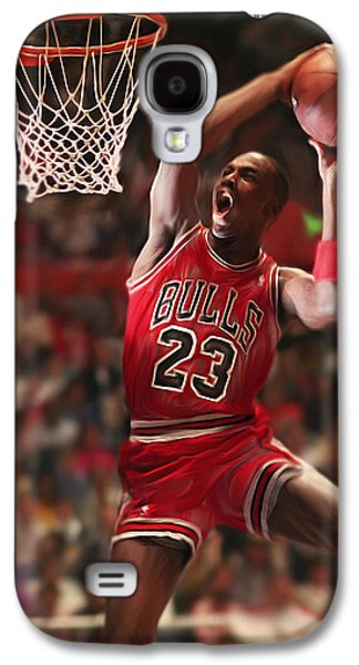 Pippen Galaxy S4 Cases - Air Jordan Galaxy S4 Case by Mark Spears