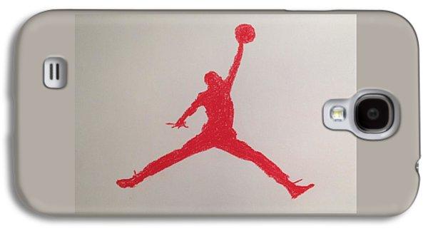 Jordan Drawings Galaxy S4 Cases - Air Jordan Galaxy S4 Case by Peter Virgancz