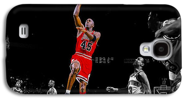 Patrick Ewing Galaxy S4 Cases - Air Jordan Return from Retirement Galaxy S4 Case by Brian Reaves