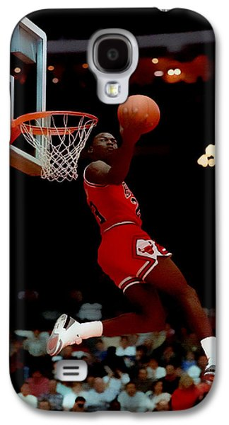 Patrick Ewing Galaxy S4 Cases - Air Jordan Reverse Slam Galaxy S4 Case by Brian Reaves