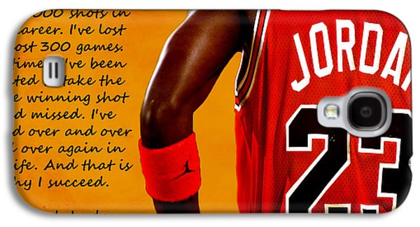 Nike Digital Galaxy S4 Cases - Air Jordan Success Quote Galaxy S4 Case by Brian Reaves