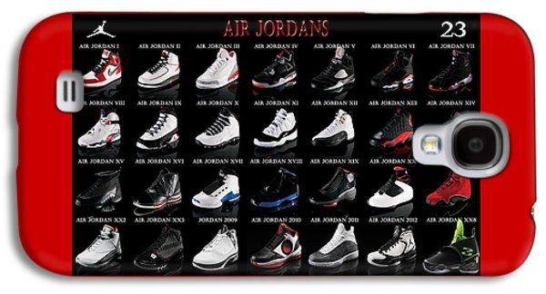 Air Jordan Shoe Gallery Galaxy S4 Case by Brian Reaves