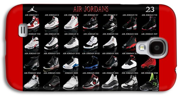 Sport Digital Galaxy S4 Cases - Air Jordan Shoe Gallery Galaxy S4 Case by Brian Reaves