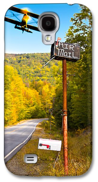 Maine Roads Galaxy S4 Cases - Air Mail Delivery Maine Style Galaxy S4 Case by Bob Orsillo