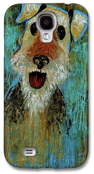 Recently Sold -  - Puppies Galaxy S4 Cases - Airedale Terrier Galaxy S4 Case by Genevieve Esson