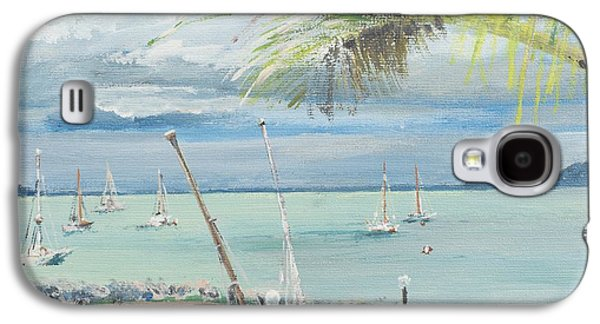 Shark Paintings Galaxy S4 Cases - Airlie Beach  Australia Galaxy S4 Case by Vincent Alexander Booth