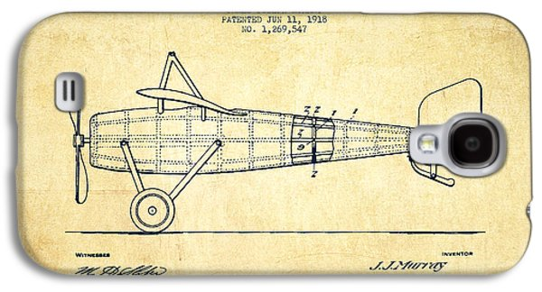 Airplane Patent Drawing From 1918 - Vintage Galaxy S4 Case by Aged Pixel
