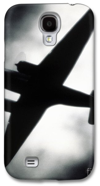 Vertical Flight Galaxy S4 Cases - Airplane silhouette Galaxy S4 Case by Tony Cordoza