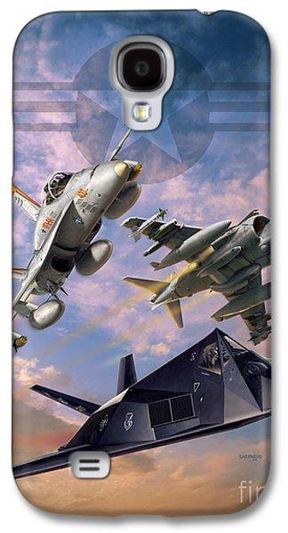 Iraq Galaxy S4 Cases - Airpower Over Iraq Galaxy S4 Case by Stu Shepherd